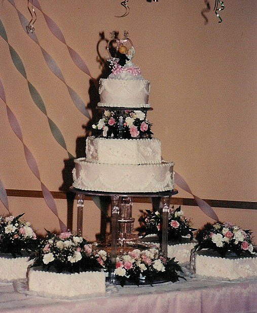 This was my sister's wedding cake. I think just about every cake was a
