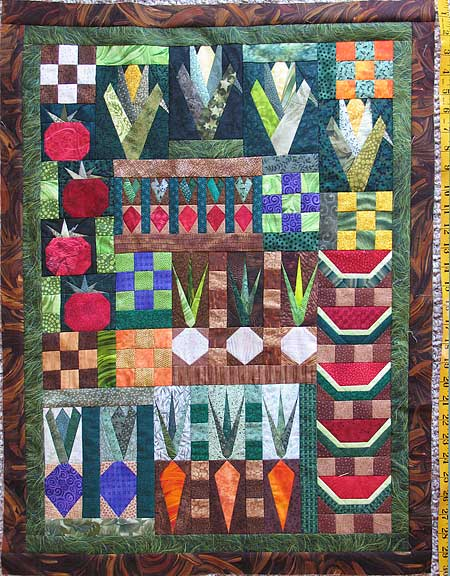 Garden Quilt Top Pieced Sonyas Snippets