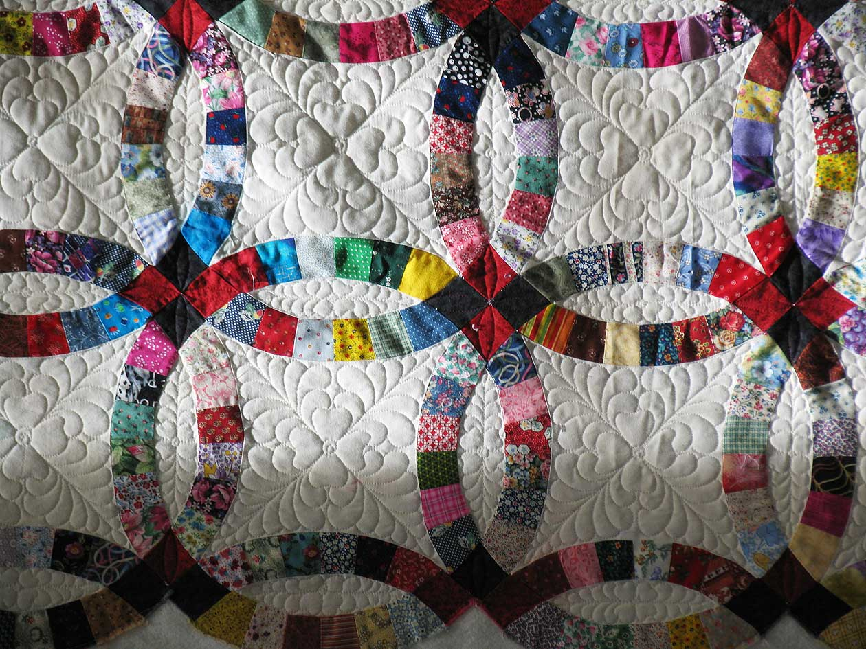 single wedding ring quilt pattern hd image - Wedding Ring Quilt Pattern