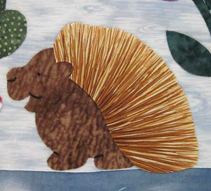 Hedgehog from my All God's Critters quilt.
