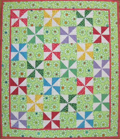 Polka Dot Pinwheel Quilt Free Pattern Sonya S Snippets
