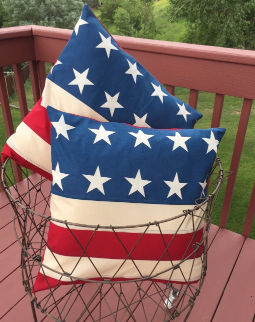 Finished Flag Pillows